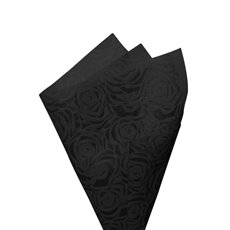 Printed Nonwoven Design - Nonwoven Wrap Floral 80gsm Black (50x70cm) Pack 50