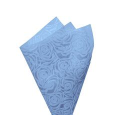 Printed Nonwoven Design - Nonwoven Wrap Floral 80gsm Blue (50x70cm) Pack 50