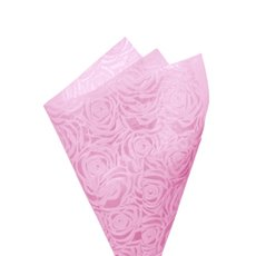 Printed Nonwoven Design - Nonwoven Wrap Floral 80gsm Baby Pink (50x70cm) Pack 50