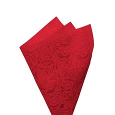 Printed Nonwoven Design - Nonwoven Wrap Floral 80gsm Red (50x70cm) Pack 50