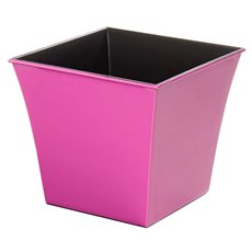 Plastic Planter Flared Square 16x16x14cmH Hot Pink
