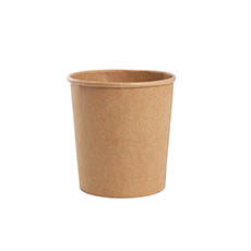 General Flower Bowls & Guards - Paper Container Round 850ml Single Kraft (11.5Dx12cmH)