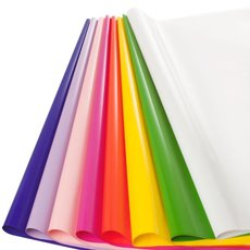 Cello Coloured Plain - Coloured Cellophane 40 micron Multi Brights(50x70cm)Pack 400