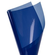 Coloured Cellophane 40 micron Cobalt Blue 150 Pack (50x70cm)