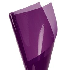 Cello Coloured Plain - Coloured Cellophane 40 micron Aubergine (50x70cm) Pack 150