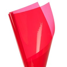 Coloured Cellophane 40 micron Red 150 Pack (50x70cm)