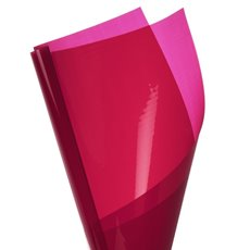 Coloured Cellophane 40 micron Deep Red 150 Pack (50x70cm)
