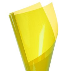 Cello Coloured Plain - Coloured Cellophane 40 micron Yellow (50x70cm) Pack 150