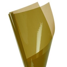 Coloured Cellophane 40 micron Metallic Gold PK150 (50x70cm)