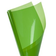 Cello Coloured Plain - Coloured Cellophane 40 micron Lime (50x70cm) Pack 150