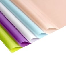 Cello Coloured Plain - Coloured Cellophane 40 micron Multi Pastel PK250 (50x70cm)