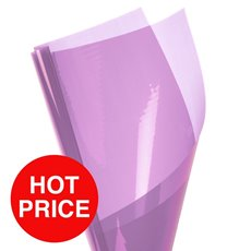 Cello Coloured Plain - Coloured Cellophane Promo 40mic Lavender (50x70cm) Pack 150