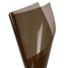 Coloured Cellophane 40 micron Chocolate 150 Pack (50x70cm)