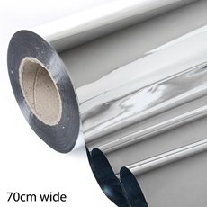 Metallic Cello Wrap - Silver Roll 35 micron (70cmx300m)