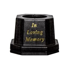 Floral Trays & Sympathy - Cemetery Vase Base In Loving Memory (18.5x13cmH) Black