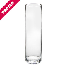 Cylinder & Conical Vases - Glass Promo Cylinder Vase 10Dx35cmH Clear