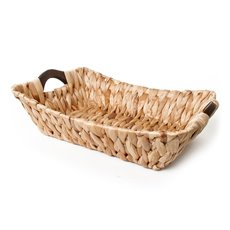Hyacinth Tray with Handles Rectangle Natural (37x30x10cmH)