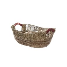 Hamper Tray & Gift Basket - Premium Seagrass Tray Oval (36x29x12cmH) Natural
