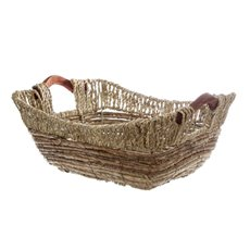 Premium Seagrass Tray Rect. Large (38x32x13cmH)