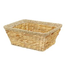 Hamper Tray & Gift Basket - Hyacinth Tray Gloria Rectangle Large (40x30x16cmH) Natural