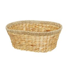Hamper Tray & Gift Basket - Hyacinth Tray Joy Oval Large (42x32x16cmH) Natural