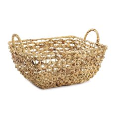 Baskets with Handles - Premium Rattan Large Rect. Hamper (38x32x18cmH)