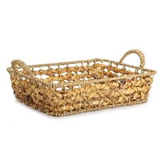 Baskets with Handles - Premium Seagrass Tray Rect. Large (40x30x10cmH)