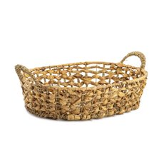 Baskets with Handles - Premium Seagrass Tray Oval Large (40x32x10cmH)