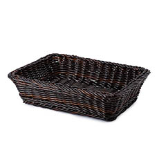 Hamper Tray & Gift Basket - Premium Wicker Hamper Tray Rect Dark Brown (45x33x11cmH)
