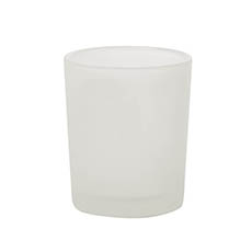 Votive Candle Tealight Holder Frosted (5x6cmH)