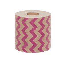 Wrapping Narrow Counter Roll Chevron Hot Pink  (10cmx60m)
