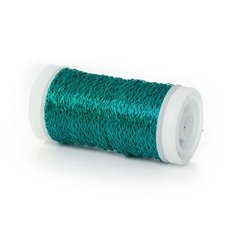 Bouillon Crinkle Florist Wire - Wire Bouillon Effect 0.35mm 45m 28 gauges Aqua