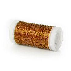 Bouillon Crinkle Florist Wire - Wire Bouillon Effect 0.35mm 45m 28 gauges Gold