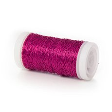 Bouillon Crinkle Florist Wire - Wire Bouillon Effect 0.35mm 45m 28 gauges Hot Pink