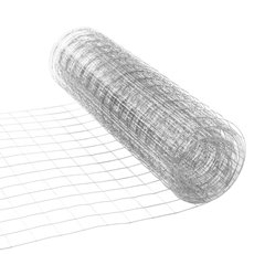 Netting Wire Decor - Wire Mesh 35cmx5m Silver Zinc 23 Gauge (0.6mm)