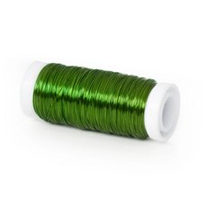 Coloured Decor Wire - Wire Shiny 0.35mmx132m 28 gauges 100g Spool Lime Green