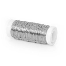 Coloured Decor Wire - Wire Shiny 0.35mmx132m 28 gauges 100g Spool Silver