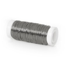 Coloured Decor Wire - Wire Shiny 0.35mmx132m 28 gauges 100g Spool Zinc Silver