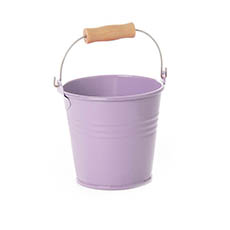 Tin Buckets Pail with Handle - Tin Bucket Bambino Lavander (8Dx7cmH)