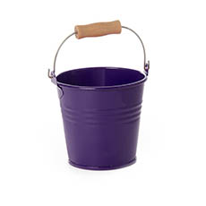Tin Buckets Pail with Handle - Tin Bucket Bambino Violet (8Dx7cmH)