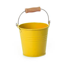 Tin Bucket Bambino Yellow (8Dx7cmH)