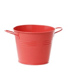 Tin Buckets Pail side handles - Tin Bucket side Handles Red (15.5Dx12cmH)