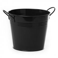 Tin Buckets Pail side handles - Tin Bucket side Handles Black (18Dx15cmH)