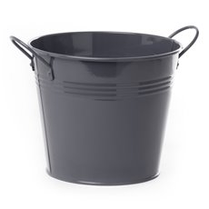 Tin Buckets Pail side handles - Tin Bucket side Handles Charcoal (18Dx15cmH)