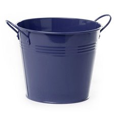 Tin Buckets Pail side handles - Tin Bucket side Handles Dark Blue (18Dx15cmH)