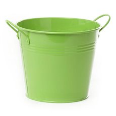 Tin Buckets Pail side handles - Tin Bucket side Handles Lime (18Dx15cmH)