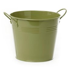 Tin Buckets Pail side handles - Tin Bucket side Handles Moss (18Dx15cmH)
