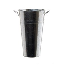 Tin Conical Display Vase with side Handle Zinc (18x30cmH)