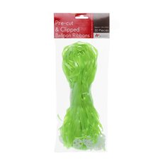 Balloon Ribbon With Clip (1.5m) 50pk Lime Green