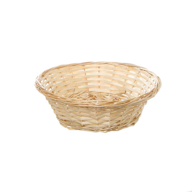 Hamper Tray & Gift Basket - Willow Tray Round Natural (30x9cmH)